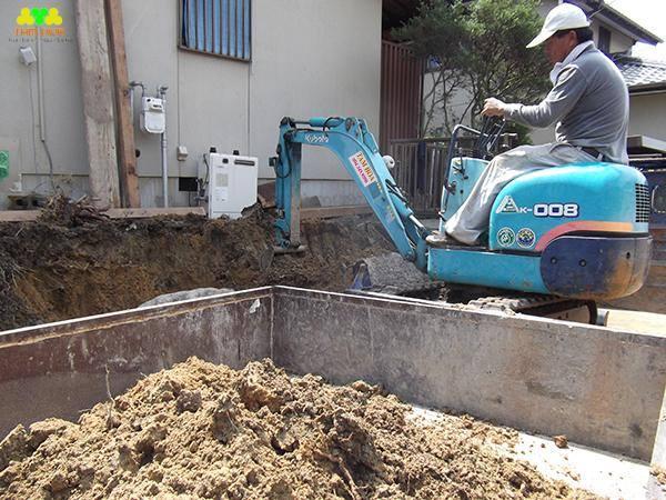 đào móng nhà dân tại hà nội