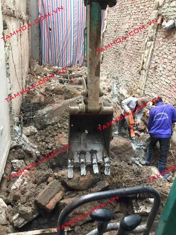 dịch vụ đào móng nhà tại hà nội